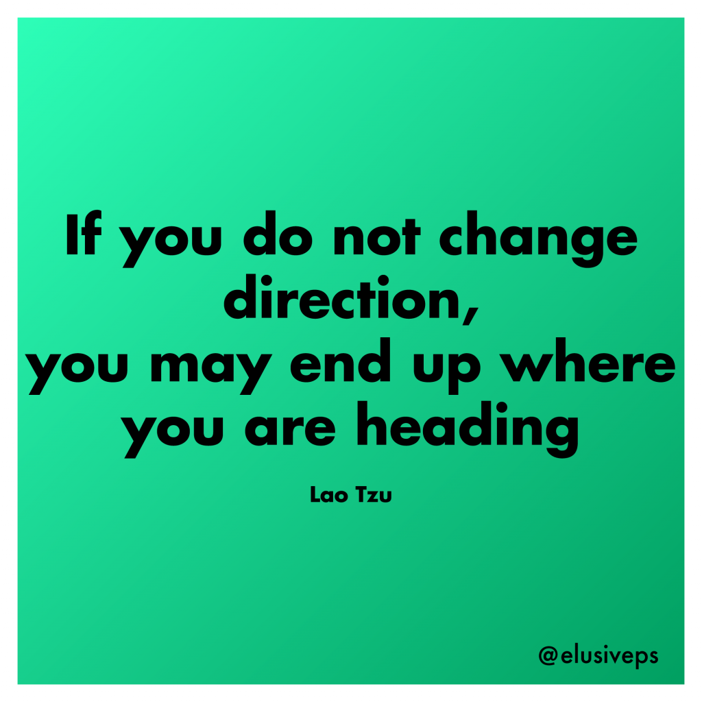 if you do not change direction